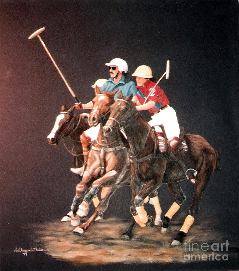 Polo Pony Painting - Polo Fever by DiDi Higginbotham