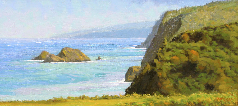 Hawaii Painting - Pololu Valley Lookout by Robert Weiss