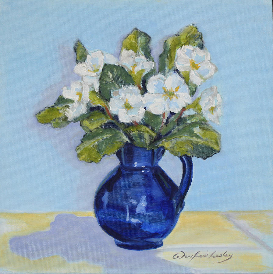 Polyanthus Painting by Winifred Lesley