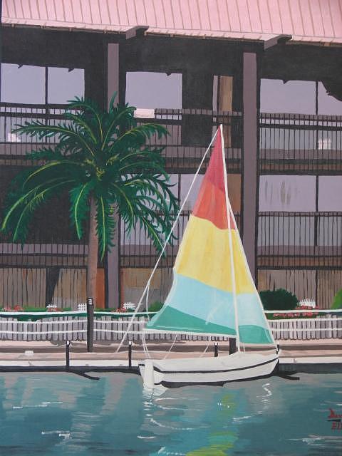 Polynesian Hotel Painting by David Ellis