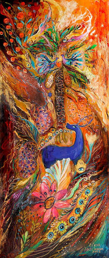 Original Painting - Polyptich Part Iv - Earth by Elena Kotliarker