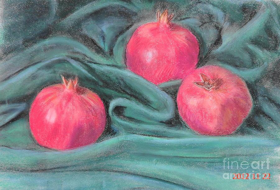 Pomegranate Painting - Pomegeranates by Ziba Bastani
