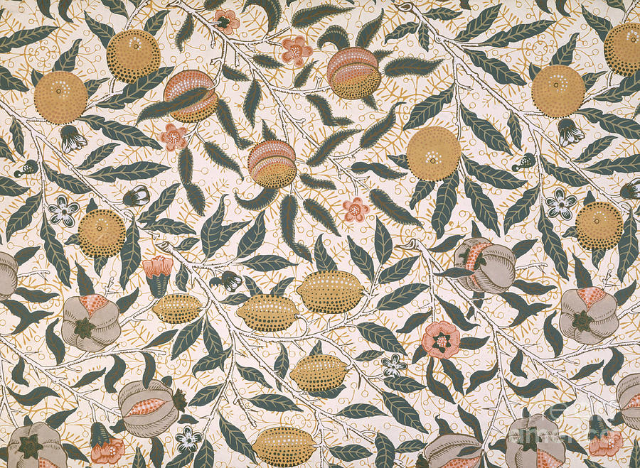 Pomegranate design for wallpaper painting by william morris for Arts and crafts style prints