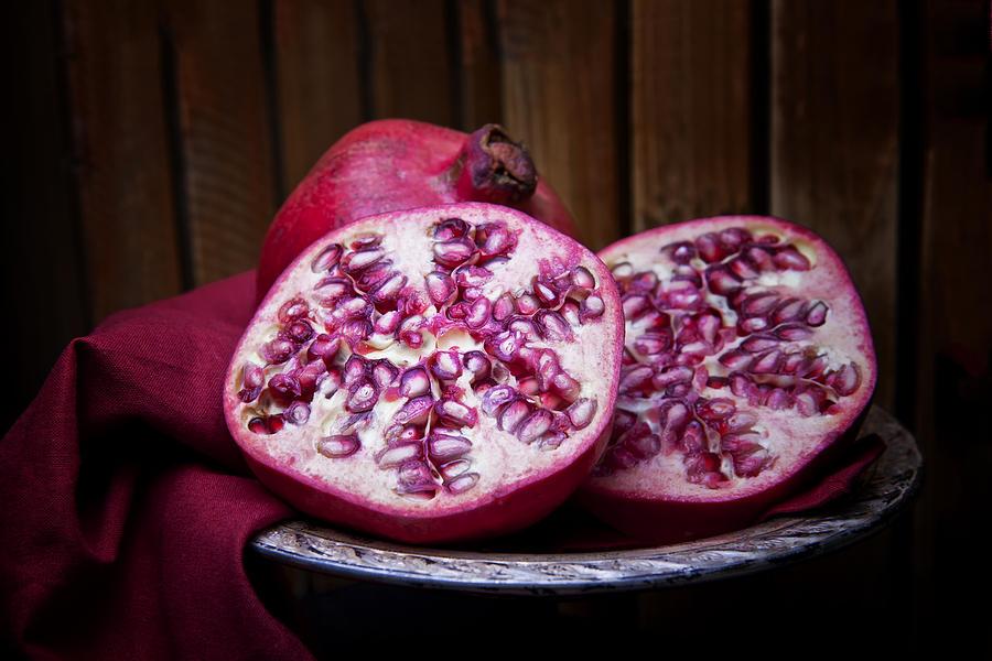 Cloth Photograph - Pomegranate Still Life by Tom Mc Nemar