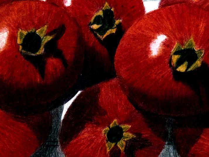 Pomegranates by Barbara J Blaisdell