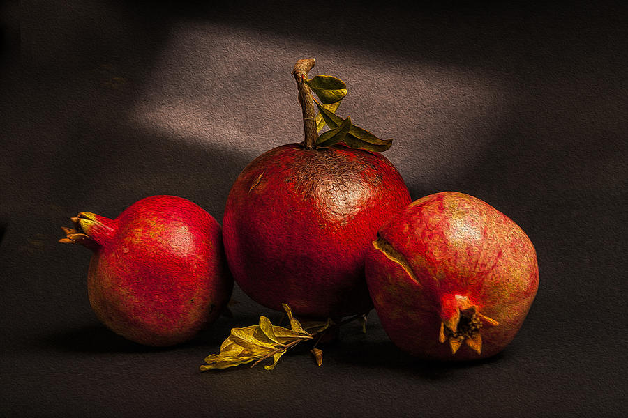 Food Photograph - Pomegranates by Peter Tellone