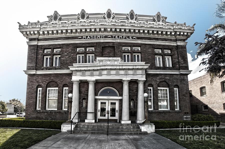 Pomona Masonic Temple Photograph - Pomona Masonic Temple by Gregory Dyer