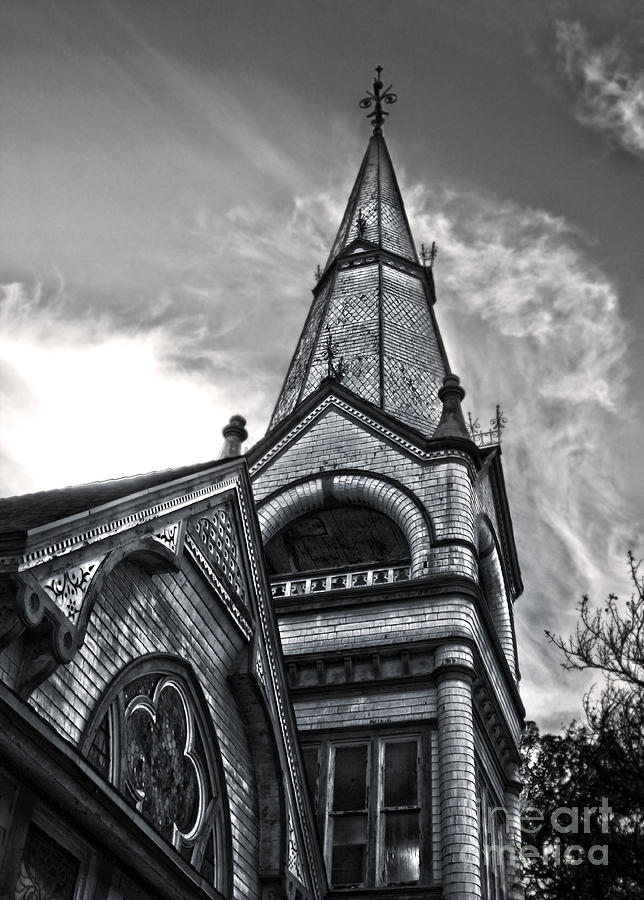 Seventh Day Adventist Photograph - Pomona Seventh Day Adventist Church In Black And White by Gregory Dyer