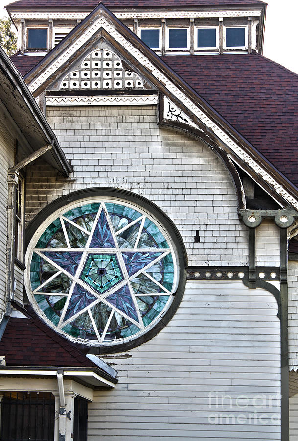 Seventh Day Adventist Church Photograph - Pomona Seventh Day Adventist Church Stained Glass by Gregory Dyer