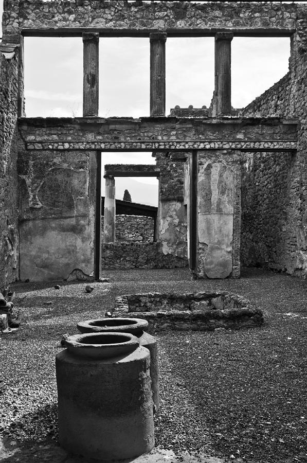 Pompeii Photograph - Pompeii Urns by Marion Galt