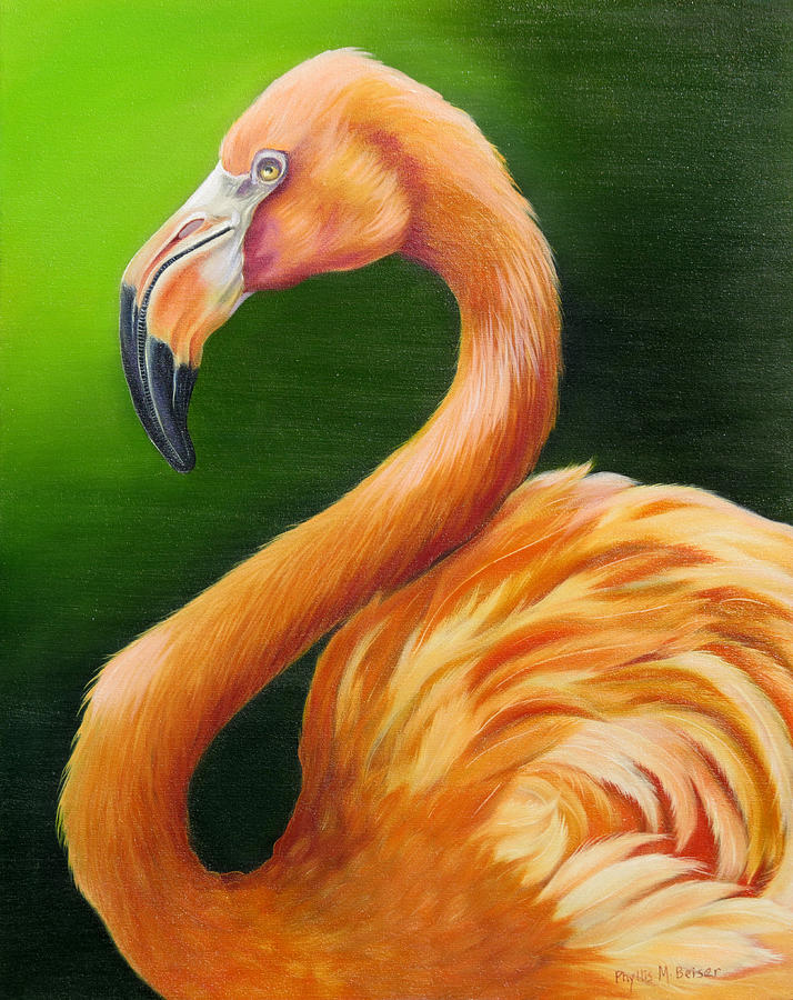 Birds Painting - Pompous by Phyllis Beiser