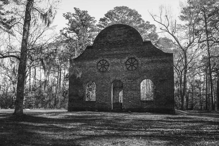 Pon Pon Photograph - Pon Pon Chapel Of Ease 2 Bw by Steven  Taylor