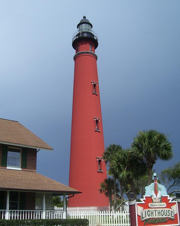 Ponce De Leon Inlet Light Photograph - Ponce De Leon Inlet Light 3 by Cathy Lindsey