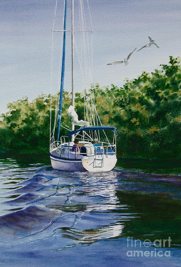 Sailboat Painting - Ponce De Leon Passage by Karol Wyckoff