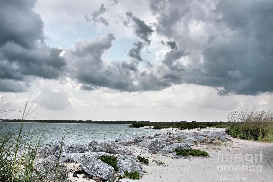 Clouds Photograph - Ponce Inlet Mood by Deborah Benoit