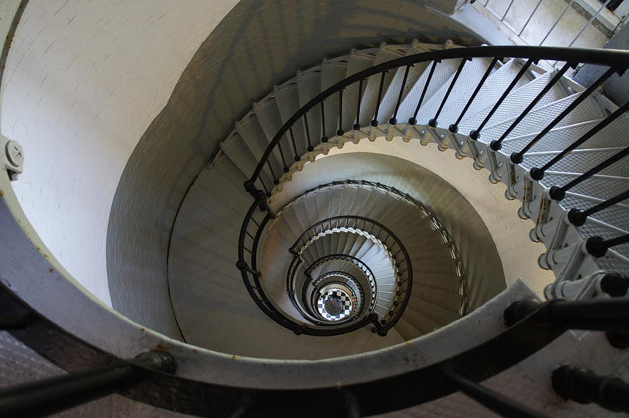 Ponce Inlet Lighthouse Photograph - Ponce Stairs by Laurie Perry