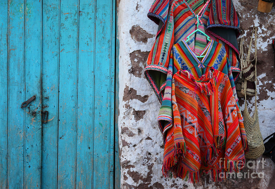 Peru Photograph - Ponchos For Sale by James Brunker