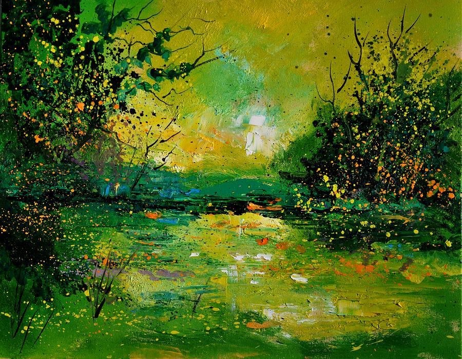 Landscape Painting - Pond 5431 by Pol Ledent