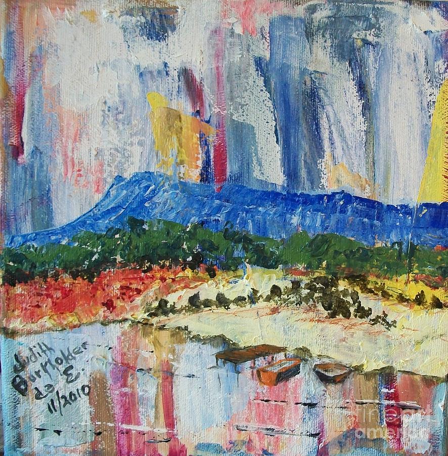 Massanutten Peak Painting - Pond By Massanutten Peak - Sold by Judith Espinoza
