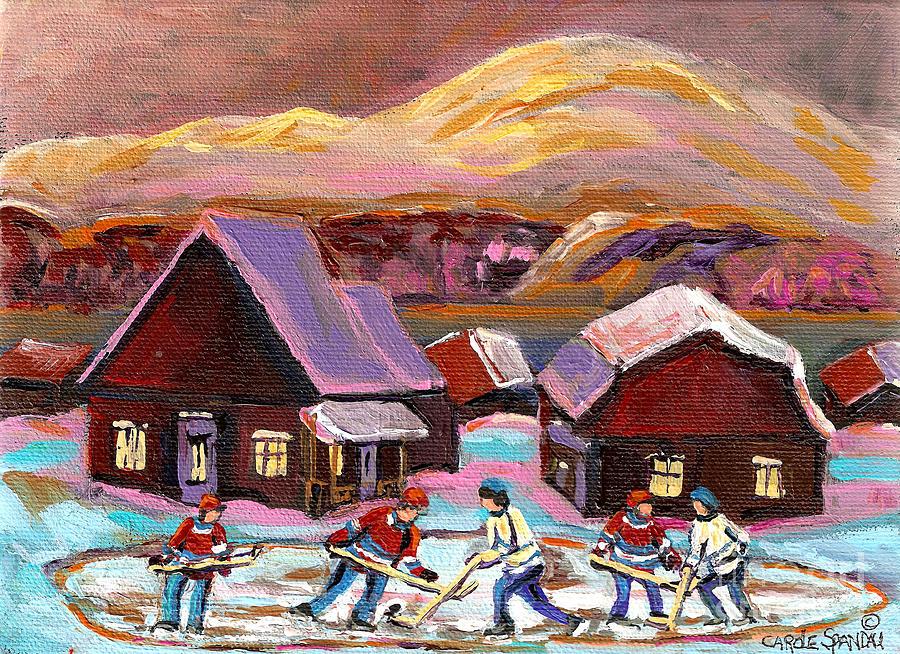 Pond Hockey Painting - Pond Hockey 1 by Carole Spandau