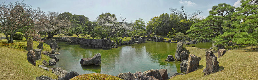 Color Image Photograph - Pond In Ninomaru Garden At Nijo Castle by Panoramic Images