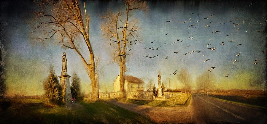 Digital Painting Photograph - Ponidzie by Anna Gora