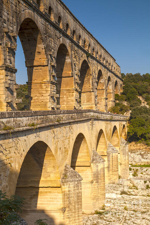 France Photograph - Pont Du Gard Roman Aquaduct Languedoc-roussillon France by Colin and Linda McKie