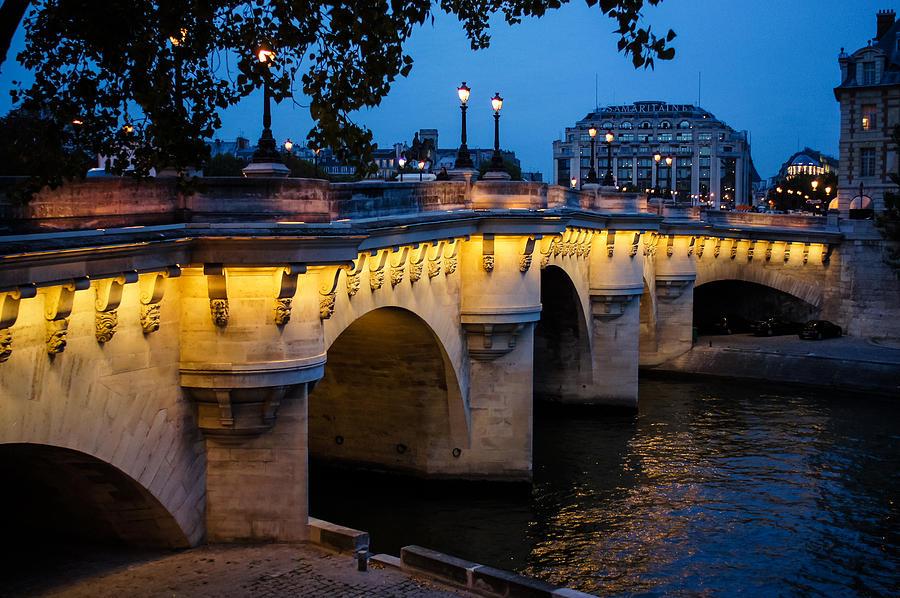 Bridge Photograph - Pont Neuf Bridge - Paris France by Georgia Mizuleva