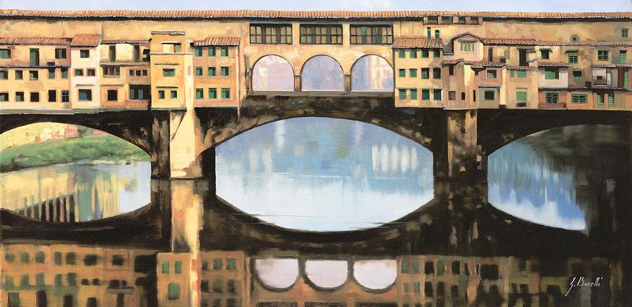 Ponte Vecchio Painting - Ponte Vecchio A Firenze by Guido Borelli