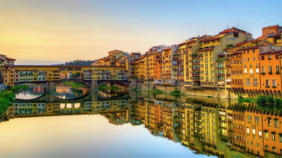 Ponte Vecchio In Early Morning Photograph by Masahiro Noguchi