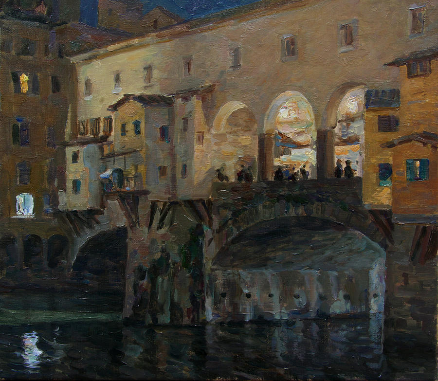 Italy Painting - Ponte Vecchio by Korobkin Anatoly