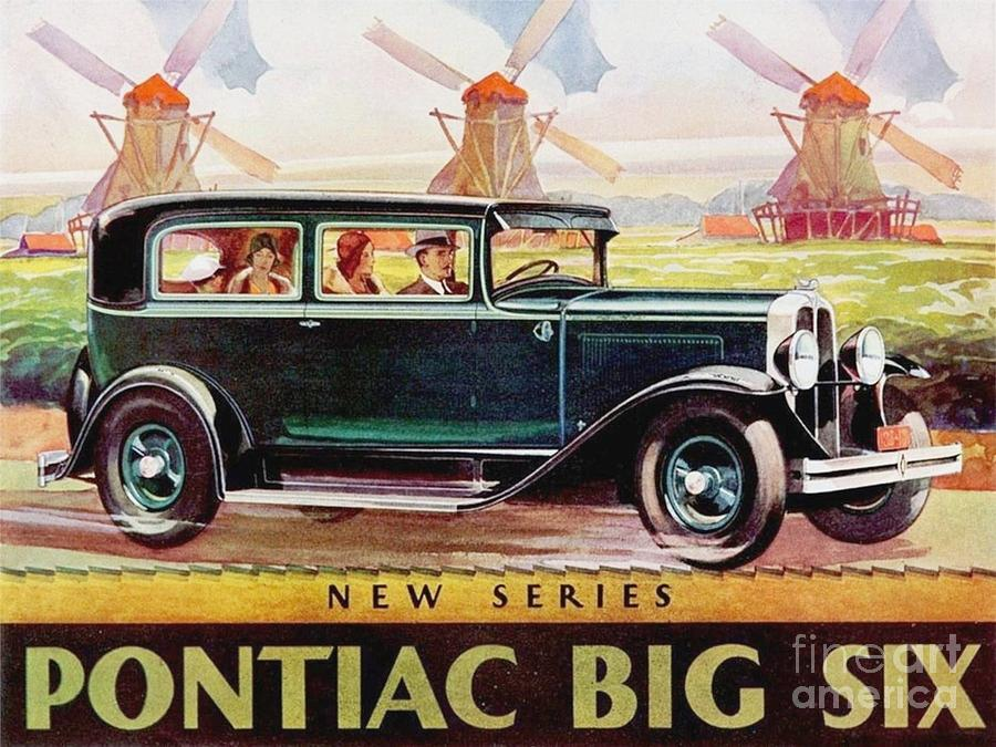Automobile Painting - Pontiac Big Six - Poster by Roberto Prusso