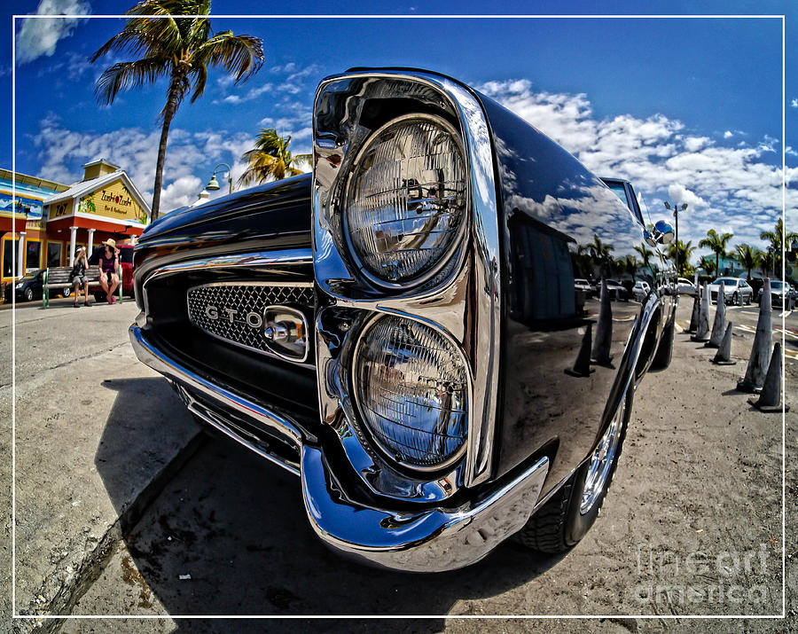 Florida Sanibel Tampa Southeast Car Classic Vintage Pontiac Photograph - Pontiac Gto Convertible Ft Myers Beach Florida by Edward Fielding