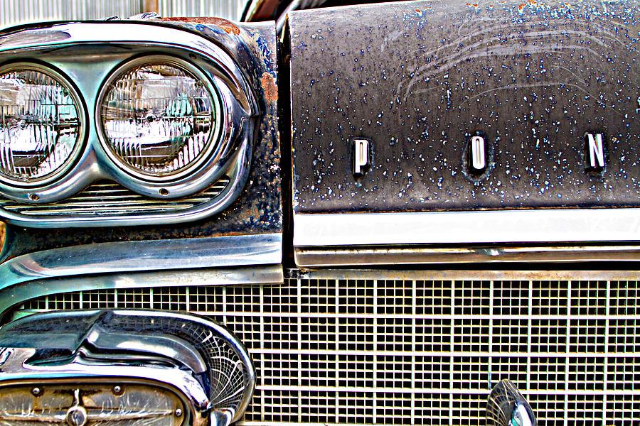 Car Photograph - Pontiac Lights by Paula Fankhauser