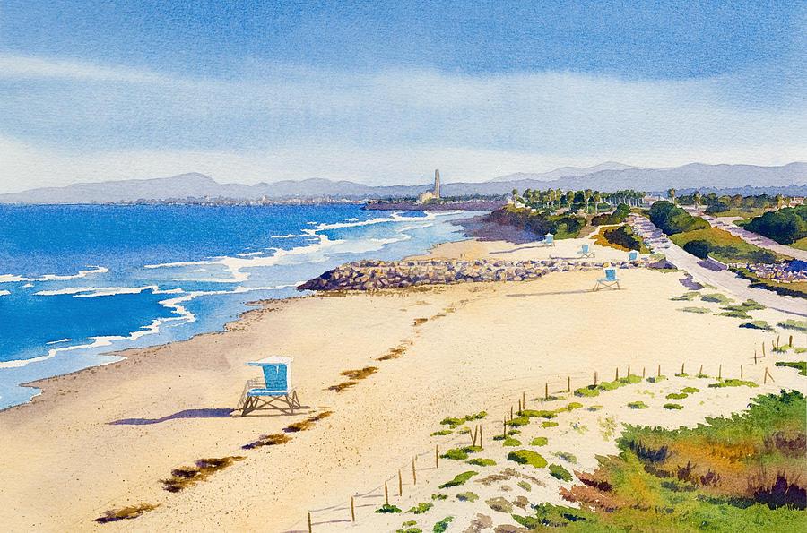Ponto Beach Carlsbad California Painting By Mary Helmreich