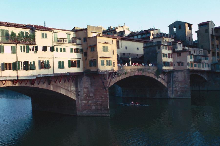 Old Bridge Photograph - Ponto Vecchio Florence Palette by Tom Wurl