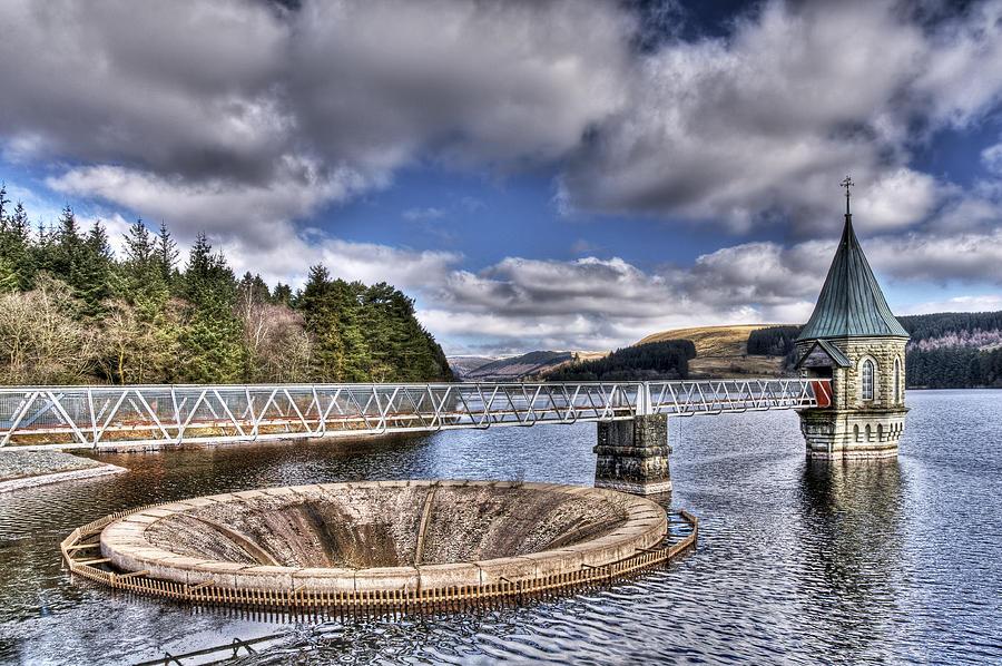Valve Tower Photograph - Pontsticill Reservoir 2 by Steve Purnell