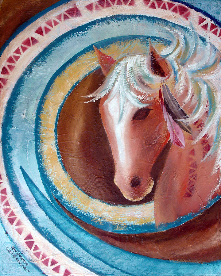 Horse Painting - Pony Dreamer by Chris Morningforest
