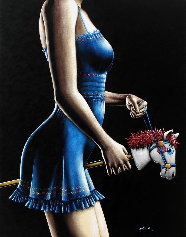 Girl Painting - Ponygirl by Glenn Pollard