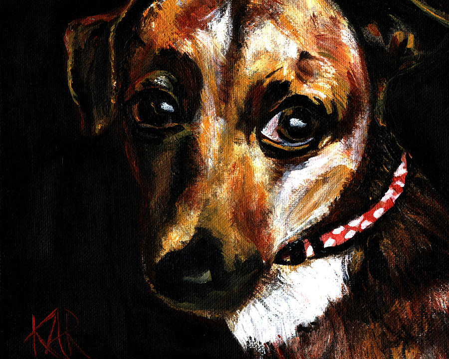 Dog Painting - Pooch by Art by Kar