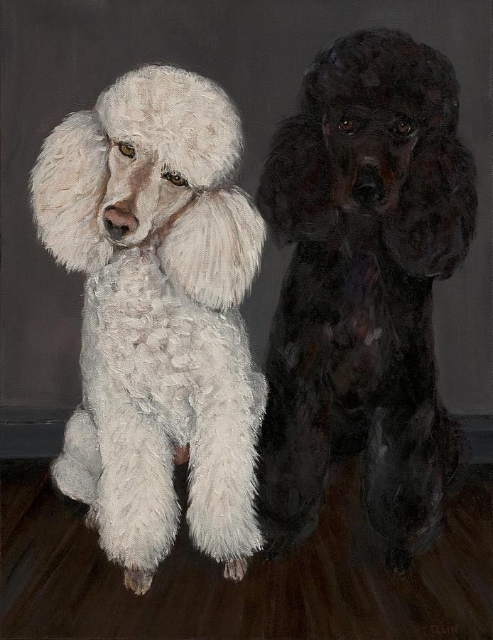 Poodles Painting by Ellin Blumenthal