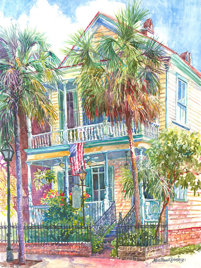 Charleston Painting - Poogans Porch by Alice Grimsley
