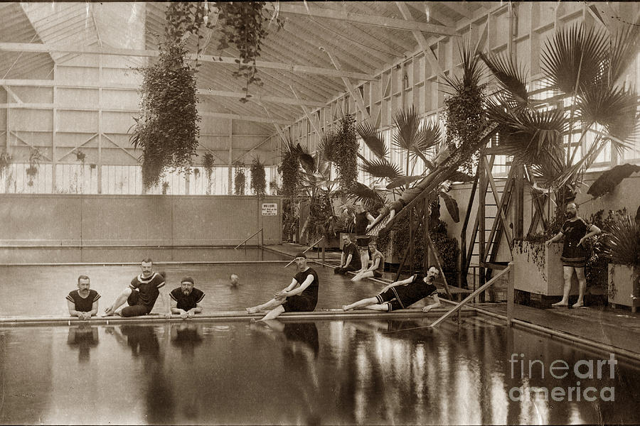 Pool Photograph - Pool In The Del Monte Bath House Monterey Circa 1885 by California Views Mr Pat Hathaway Archives