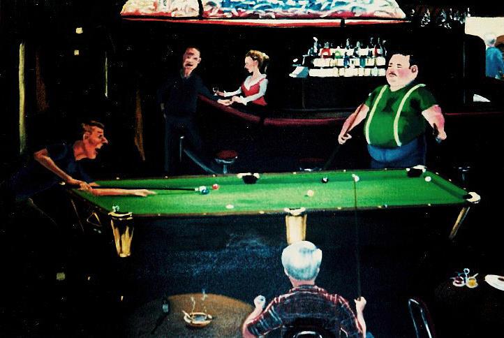 Pool Painting - Pooling Around by Susan Roberts