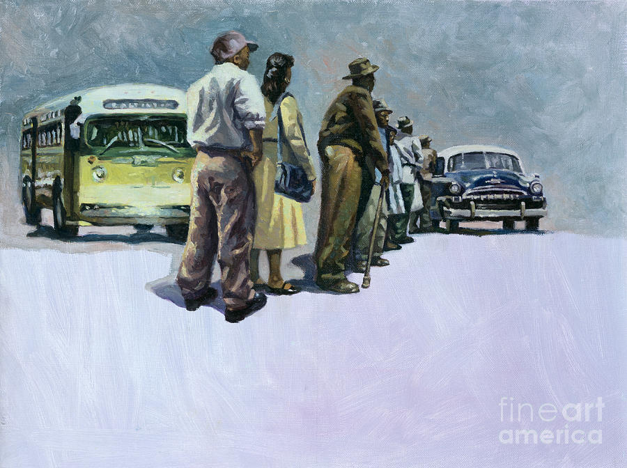 Rosa Parks Painting - Pools Of Defiance by Colin Bootman