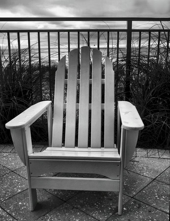 Beach Chair Photograph - Poolside And Gulfside by Julie Dant