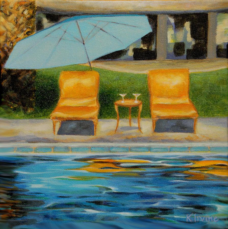 Poolside in La Mesa by Kathleen Irvine