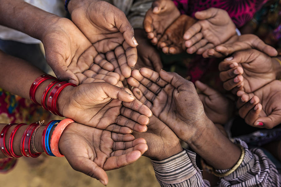 Poor Indian Children Asking For Help, India Photograph by Bartosz Hadyniak