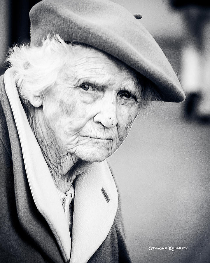 Portrait Photography Photograph - Poor Old Lady by Stwayne Keubrick