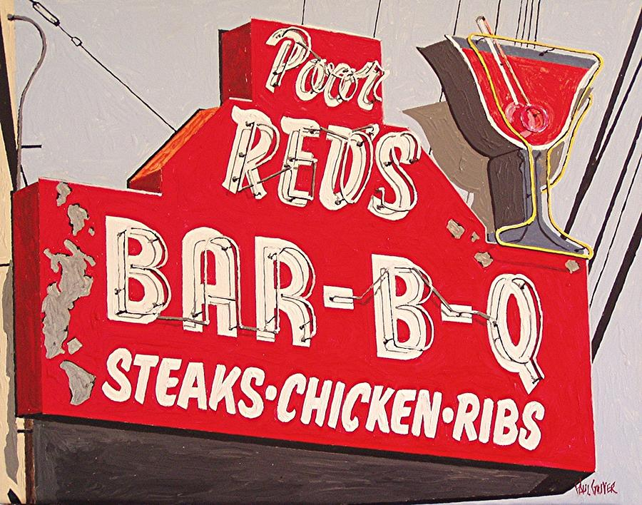 Sacramento Painting - Poor Reds by Paul Guyer